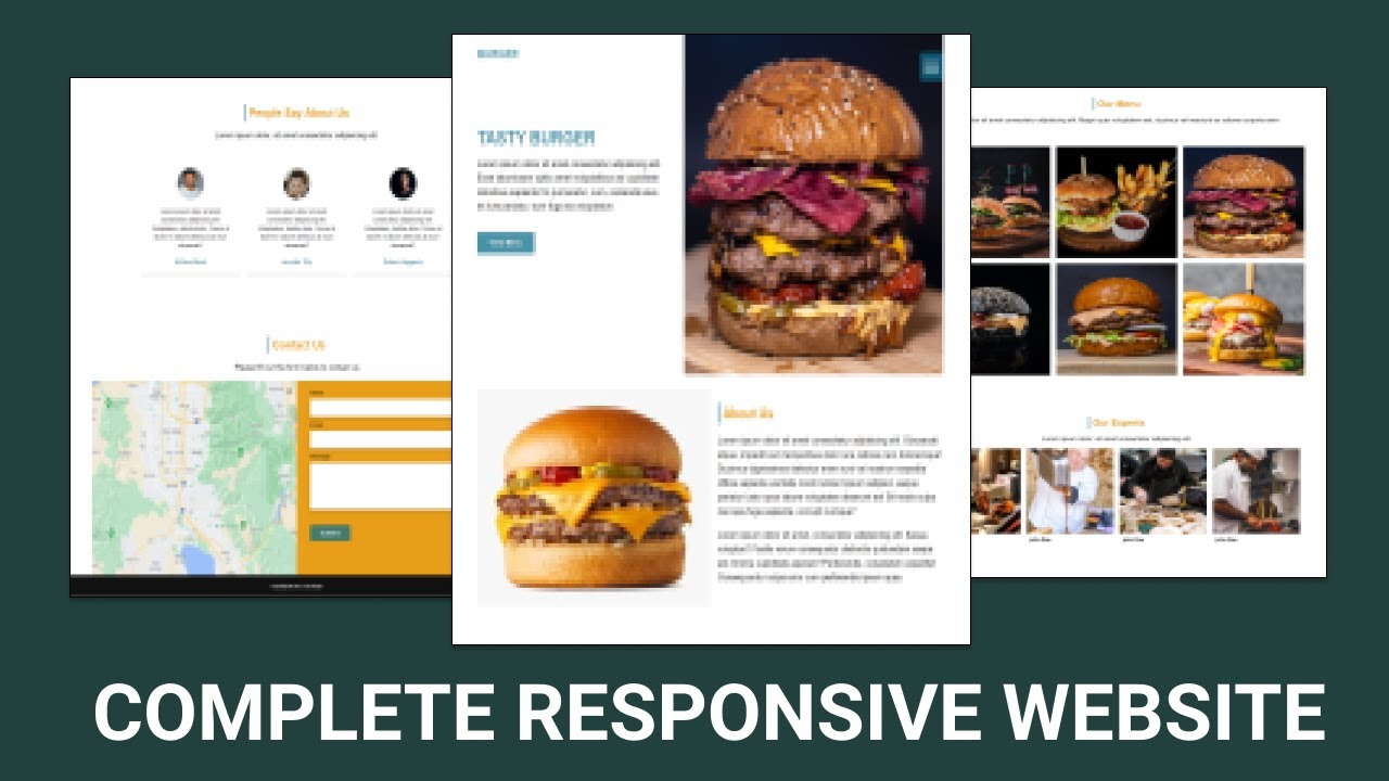 How To Make Website Using HTML & CSS | Full Responsive Website Design Step by Step
