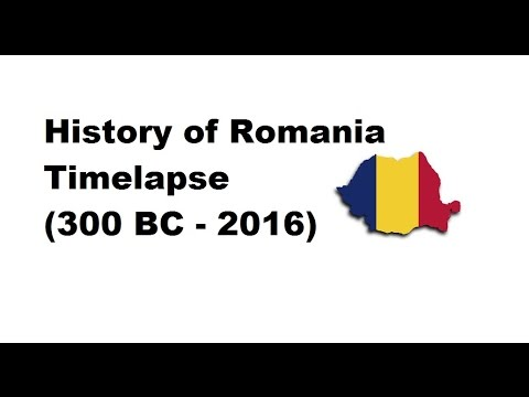 History of Romania - Timelapse (300 BC - 2016)