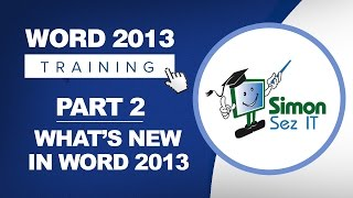 Word 2013 for Beginners Part 2: What's New in Word 2013
