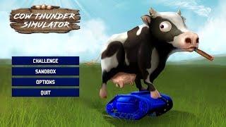 БИТВА УПОРОТЫХ ЖИВОТНЫХ (Cow Thunder Simulator)