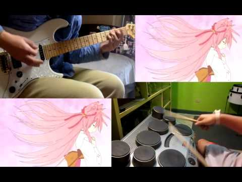 TAYUTAMA ED ~ Kiss on my Diety - Kizuna no Uta guitar/drum