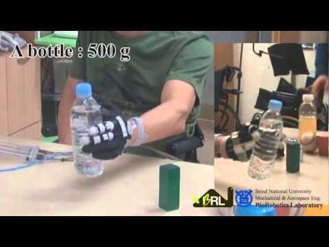 exo glove a soft wearable robot for the hand with a soft tendon