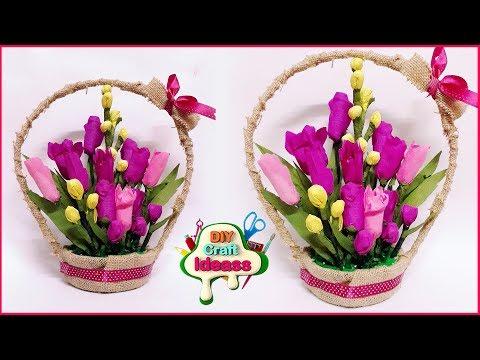 Pretty flower ideas ♻️🛑   bouquets diy ideas with paper   Paper crafts   Arush Diy craft Ideas