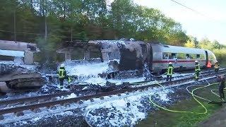BRAND IM ICE: Bahn-Schnellstrecke Köln-Frankfurt lange gesperrt