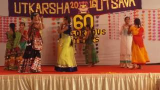 School Students Garba Dance Janhavi Megha Tambe My School SBAMS Anual Day Function 24/12/2016