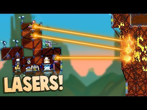 NEW FIRE BEAM Super Laser & NEW Update!  (Forts Multiplayer Gameplay Part 1)
