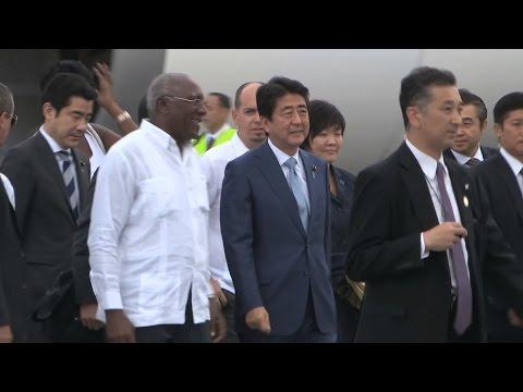 Shinzo Abe llega a Cuba para abrir una nueva etapa en las relaciones bilaterales