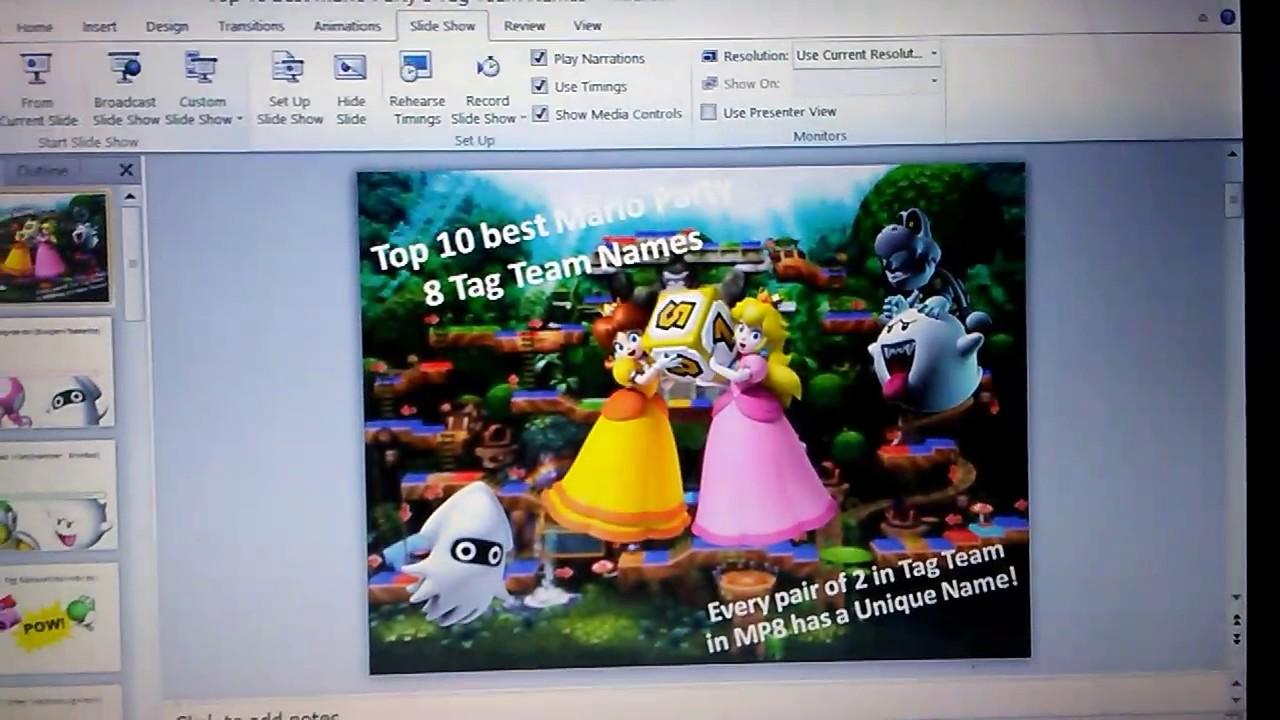 Top 10 Mario Party 8 Tag-Team Names!