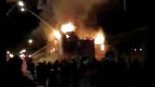Inlander fire. March 4, 2009. Prince Rupert, BC