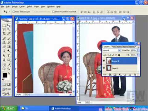 Lop xu ly anh photoshop-Ghep anh vao khung http://HocPhotoshop.Com