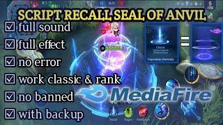 SCRIPT RECALL TAS TAS SEAL OF ANVIL  SOUND CLASSIC   FULL EFFECT SOUND