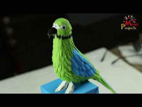 How To Make An Amazing Parrot Easily by Using Colour Papers and Glue | You don't gonna miss it |