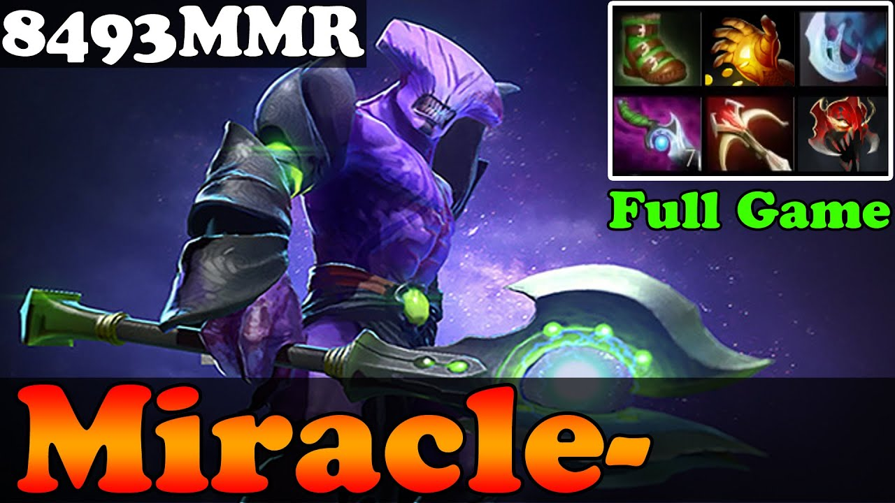 dota 2 miracle 8493mmr plays faceless void full game ranked