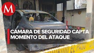 Incendian auto de enfermera en Mérida