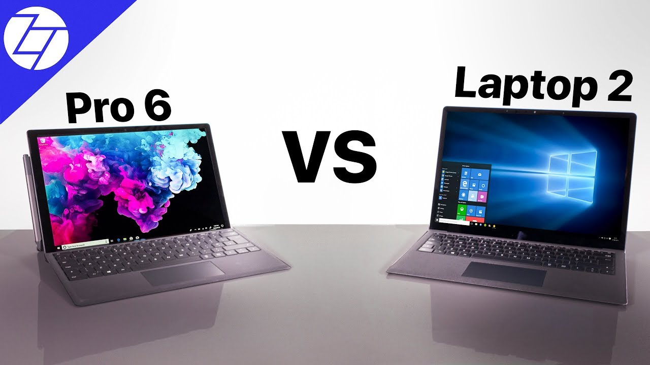 surface pro 6 vs surface book 2