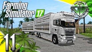 Farming Simulator 2017 Gameplay :EP11: Scania Viehtransporter!  Animal Transport! (PC Let