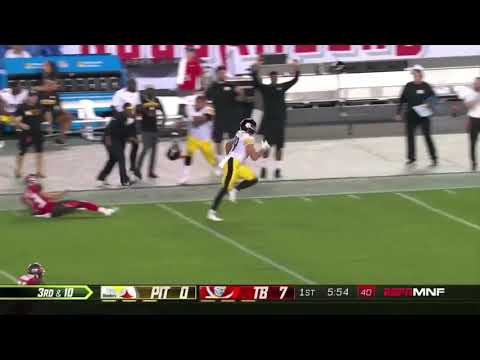 competitive price d96db e57cb VANCE MCDONALD 75 YARD TOUCHDOWN! CRAZY STIFF ARM ON CHRIS CONTE! Steelers  vs Bucs Highlights