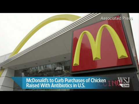 McDonald's to Curb Use of Chicken Raised With Antibiotics
