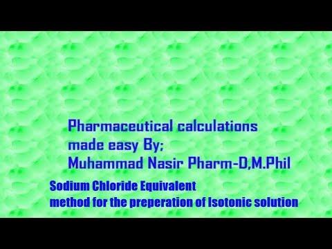 Sodium Chloride Equivalent Method|By Muhammad Nasir Pharmacist