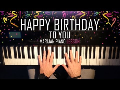 How To Play Happy Birthday To You Piano Tutorial Lesson Youtube