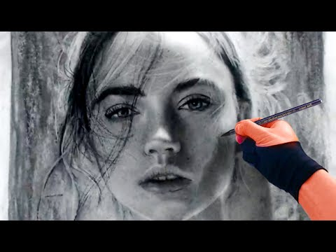 6 22 Woman Charcoal Study What Do Her Eyes Say Art Drawing Video