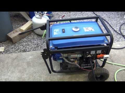 How to convert generator to natural gas.