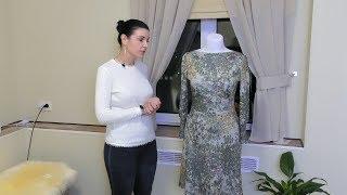 Платье с горловиной лодочка из ангоры. Обзор - Видео от Платье - терапия