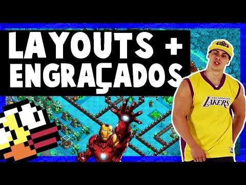 OS LAYOUTS MAIS ENGRAÇADOS E CRIATIVOS NA GUERRA TROLL ! - Clash Of Clans