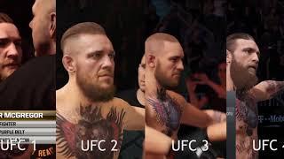 Conor McGregor entrance EA UFC 1 vs 2 vs 3 vs 4 side by side comparison