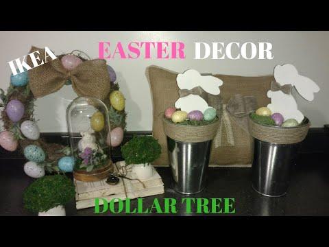 Diy dollar tree Easter decor / diy spring decor/ diy ikea Easter decor