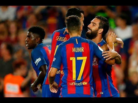 FC Barcelona 3-0 Sevilla | Goals: Arda Turan (9', 46'), Messi (55') | MATCH REVIEW