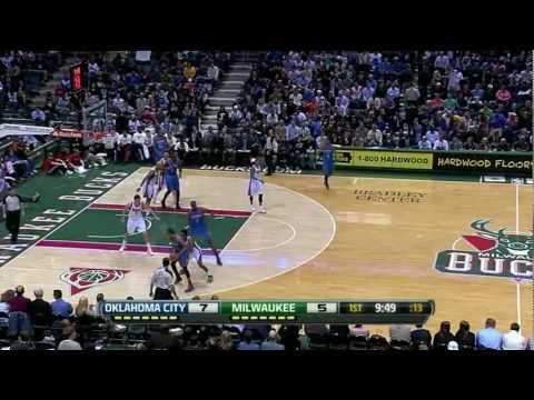 Russell Westbrook 26 points (nice buzzer beaters) vs Milwaukee Bucks full highlights  04.09.2012