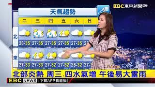 氣象時間 1080708 晚間氣象 東森新聞