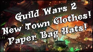 Guild Wars 2 - New Town Clothes! Paper Hats & School Uniform!