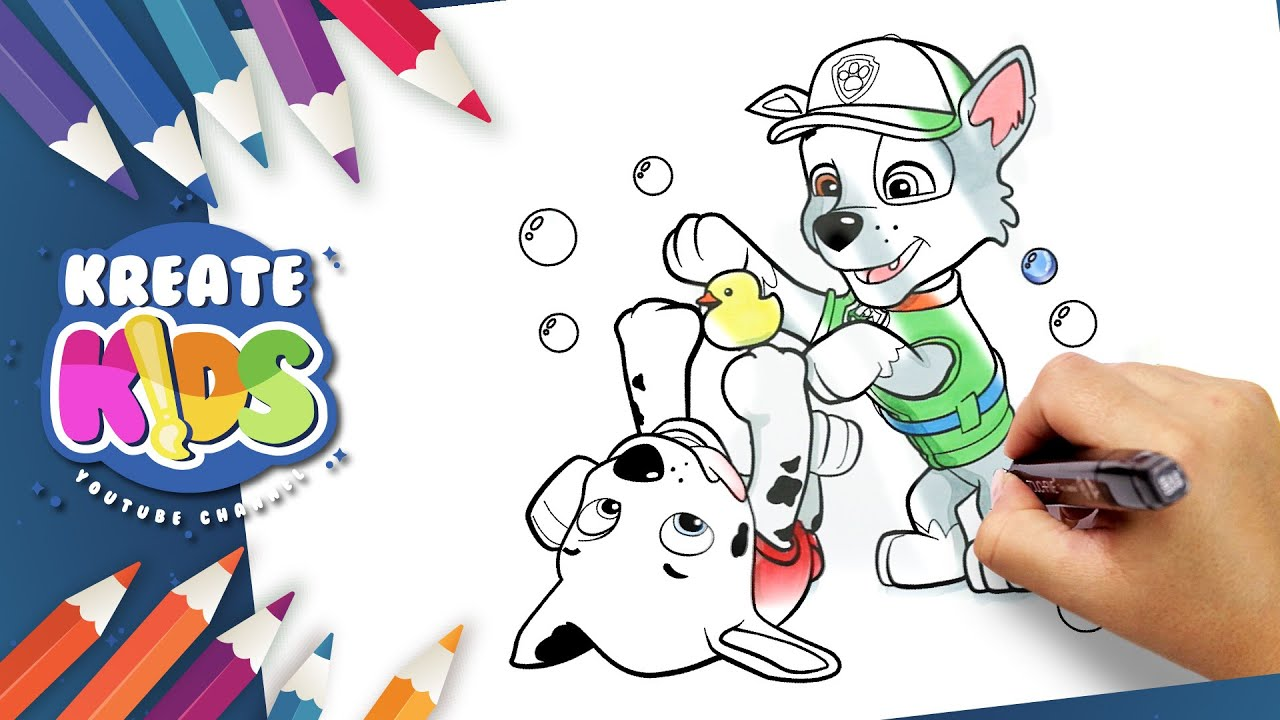 Paw Patrol Rocky And Marshall Disegni Da Colorare Coloring Pages Youtube