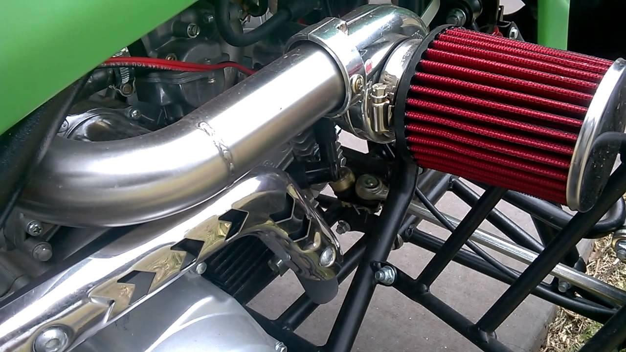 Electric Turbo Set Up On 125cc Quad Youtube