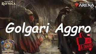 Magic Arena MTGA: Golgari Aggro Deck #3 - Guilds of Ravnica - Standard Contructed
