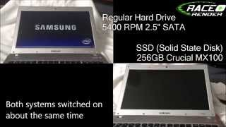 SSD v HD Windows 7 Real World Boot Time Comparison - Solid State Disk vs Normal Hard Drive