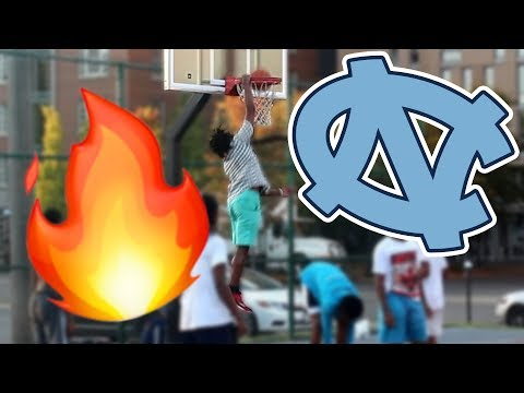 NORTH CAROLINA BASKETBALL COMMIT DRESSES AS NERD AND PLAYS BASKETBALL IN THE HOOD!! *INSANE*
