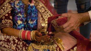 Stock video of an Indian bride performing Hindu wedding ritual at her wedding
