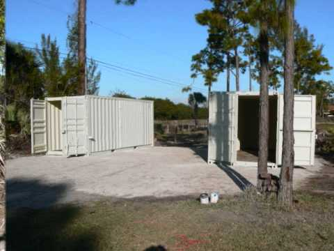 Shipping Containers Home Work Shop Part 1 Youtube