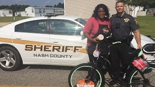 Sergeant Stuns Woman Who Walks 6 Miles to Work with Brand New Bike