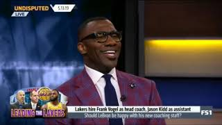 Shannon Sharpe explain why Lakers hire Frank Vogel as head coach, Jason Kidd as assistant