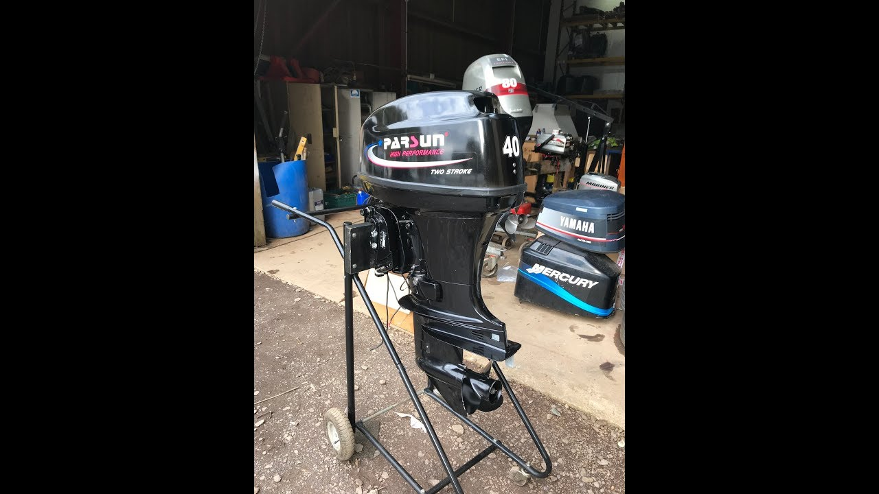 40hp parsun 2 stroke outboard review and tank test