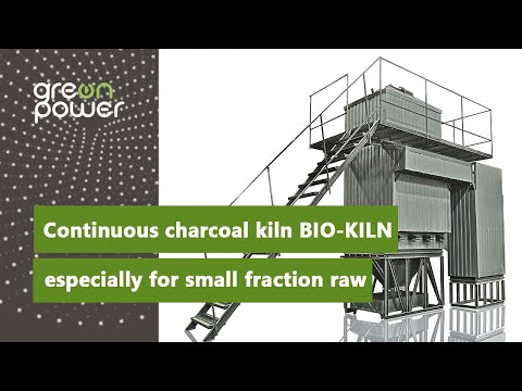 NEW! Continuous charcoal kiln BIO-KILN - sepecially for small fraction raw material