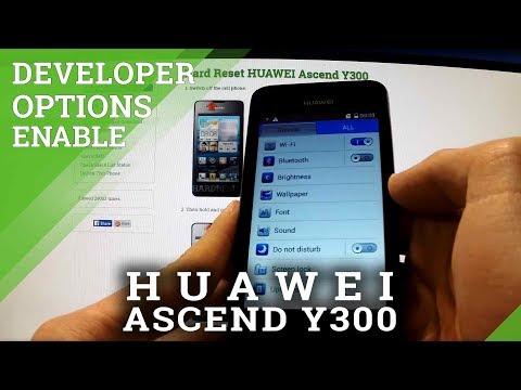 Developer Options HUAWEI Ascend Y300 - enable USB DEBUGGING