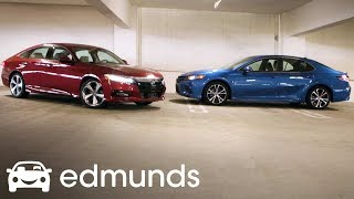 Midsize Sedans 2018 Honda Accord Vs Toyota Camry Comparison Test