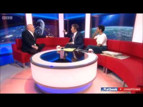 Astronaut Scott Kelly's FLAT EARTH freudian slip on BBC live news.