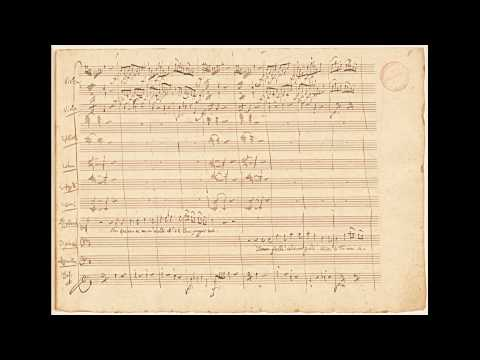 """Mozart: """"Don Giovanni"""" - 'Notte E Giorno Faticar' (autograph Manuscript)"""