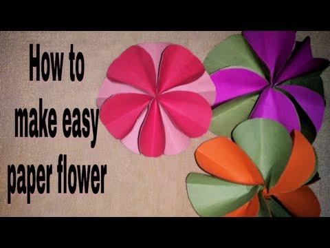 How to make easy paper flower | DIY paper flower |super easy flower